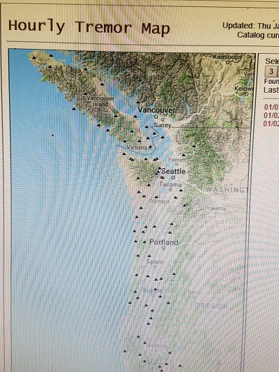 Northwest Quake Tremor